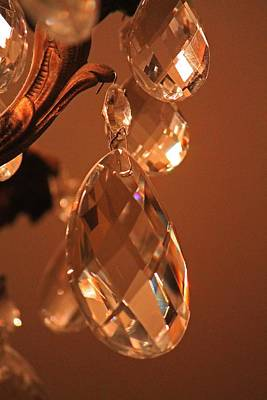 Photograph - Crystal From Chandelier by Michael Saunders