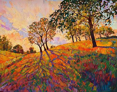 Landscapes Painting - Crystal Hills by Erin Hanson