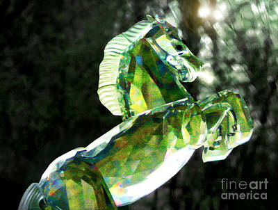 Photograph - Crystal Horse Figurine by Ellen Cotton