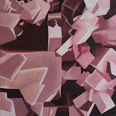 Subterranean Painting - Crystal Illumination by Diana Perfect