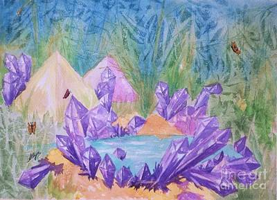 Painting - Crystal Lake by Ellen Levinson