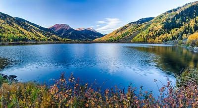 Crystal Lake Surrounded By Mountains Art Print