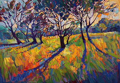 Wine Oil Painting - Crystal Light II by Erin Hanson