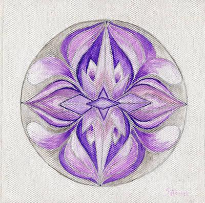 Visionary Art Drawing - Crystal Mandala by Sylwia Horosz