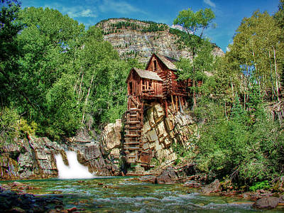 Old Mills Photograph - Crystal Mill Crystal Colorado by Ken Smith