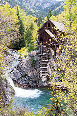 Crystal Mill Is Perched Precariously Art Print