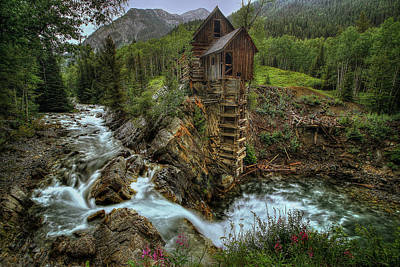 Crystal Photograph - Crystal Mill Riverside by Ryan Smith