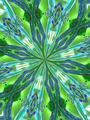 Digital Art - Crystal Ocean by Donna Blackhall