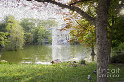 Crystal Palace In Retire's Park Oleo Art Print