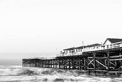 Pacific Beach Photograph - Crystal Pier Dawn In Black And White by Priya Ghose