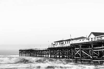 San Diego Photograph - Crystal Pier Dawn In Black And White by Priya Ghose
