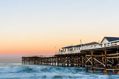 Photograph - Crystal Pier Dawn by Priya Ghose