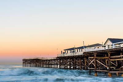 Ocean Photograph - Crystal Pier Dawn by Priya Ghose