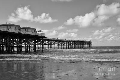 Crystal Pier In Pacific Beach Art Print by Ana V Ramirez