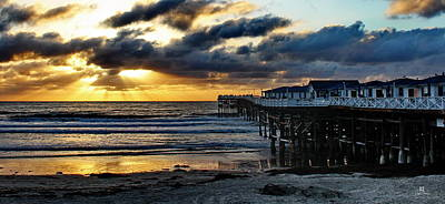 Mission San Diego Photograph - Crystal Pier Sunset Pb by Russ Harris