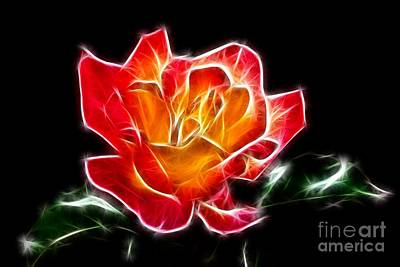 Art Print featuring the photograph Crystal Rose by Mariola Bitner