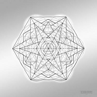 Drawing - Crystal Sixty Three Pencil by Derek Gedney