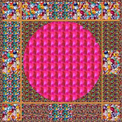 Painting - Crystal Stones Jewels Spectrum Unique Novino Graphic Art by Navin Joshi