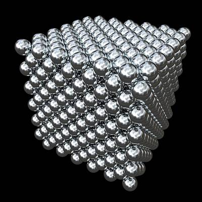 Fission Photograph - Crystal Structure Of Thorium by Russell Kightley