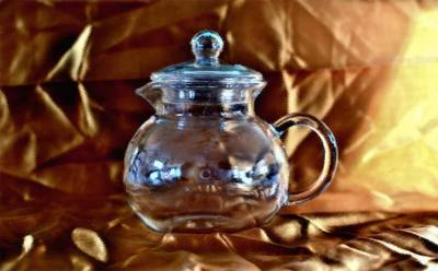 Digital Art - Crystal Teapot Classical Oil by Aliceann Carlton