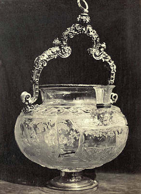 Louvre Drawing - Crystals Barrel With Metal Handle, From The Louvre by Artokoloro