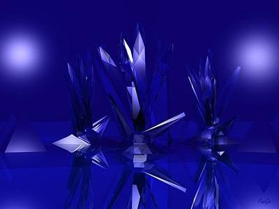 Digital Art - Crystals by John Pangia