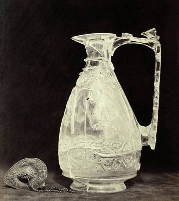 Stopper Drawing - Crystals Jug With Metal Stopper Out Of The Louvre by Artokoloro