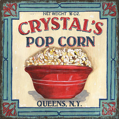 Signed Painting - Crystal's Popcorn by Debbie DeWitt