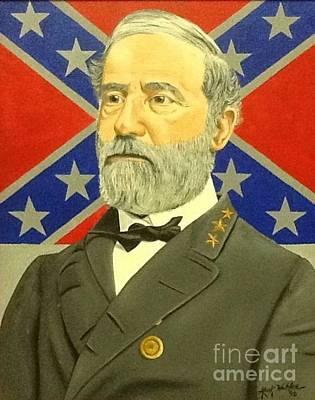 General Lee Drawing - Csa General Robert Lee by Mark Weldon