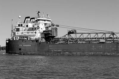 Photograph - Csl Niagara Bw by Mary Bedy