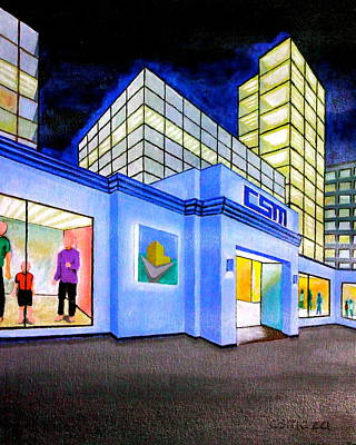 Art Print featuring the painting Csm Mall by Cyril Maza