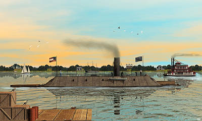 Digital Art - Css Virginia by Walter Colvin