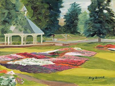 Csu Trial Gardens At Dawn Art Print