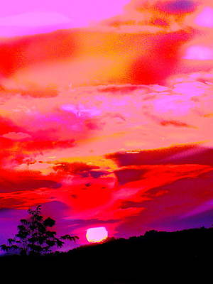 Photograph - C.sunset Sky Nine  by Expressionistart studio Priscilla Batzell