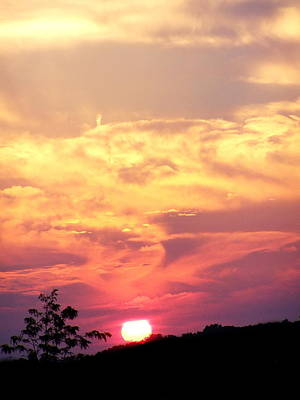 Photograph - C.sunset Sky Two by Expressionistart studio Priscilla Batzell