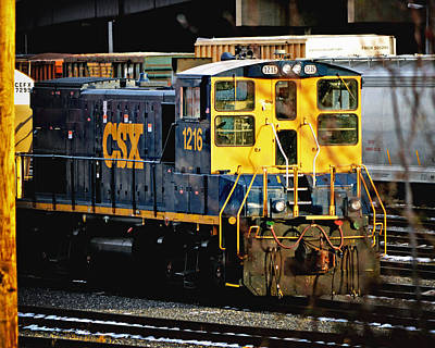 Photograph - Csx 1216 Switch Engine Emd Mp15t  by Bill Swartwout Fine Art Photography