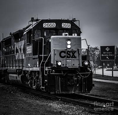 Photograph - Csx 2668 by Ronald Grogan