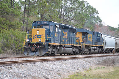 Photograph - Csx 4044 At Olustee Florida by rd Erickson