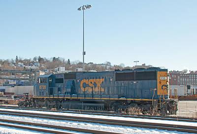 Photograph - Csx 8728 Worcester Railyard by John Black