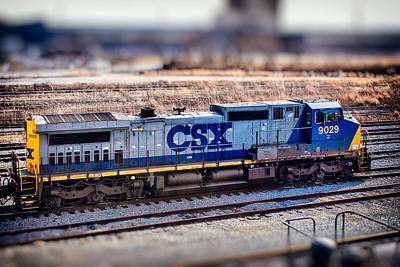 Photograph - Csx 9029 Locomotive At Locust Point by Bill Swartwout Fine Art Photography