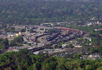 Photograph - Csx Cayce Yard From Above by Joseph C Hinson Photography