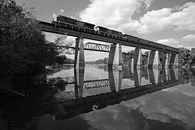 Photograph - Csx Coal Train Bw by Joseph C Hinson Photography