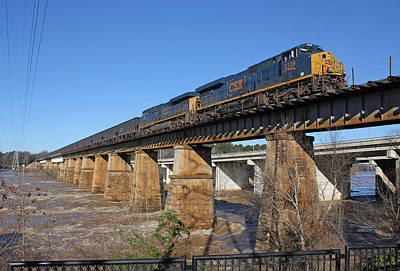 Photograph - Csx Coal Train On A Bridge by Joseph C Hinson Photography
