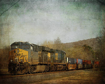 Photograph - Csx Freight Train Vintaged by TnBackroadsPhotos
