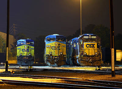 Photograph - Csx In Cayce 7.20.2011 B by Joseph C Hinson Photography