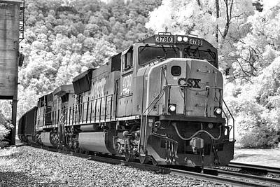 Photograph - Csx Train In Infrared by Mary Almond