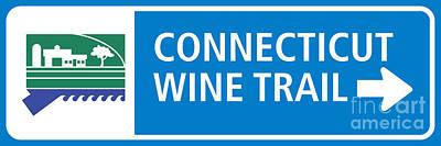 Ct Wine Trail Blue Right Art Print