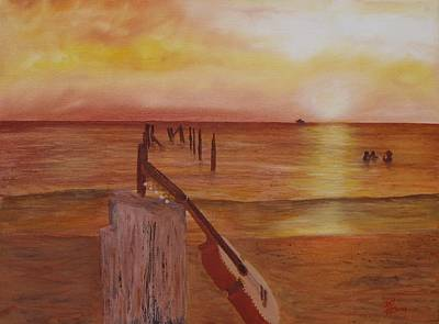 Painting - Cuatro Sunset by Tony Rodriguez