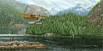 Piper Cub Painting - Cub Country by Don Feight
