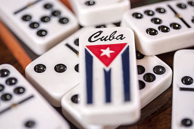 Photograph - Cuba Dominoes by Al Hurley